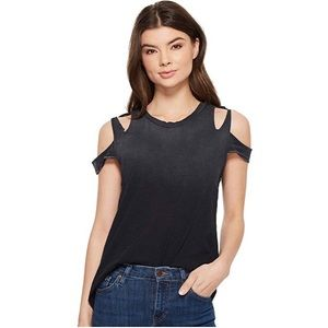 LNA Elijo Tee in Black Ripped Short Sleeve Size M